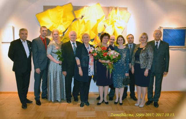 LAAFS President Prof.  Baiba Rivža wiht winner Dr. agr. Baiba Lāce and promotion prize winners Dr. oec. Laura Jeroščenko and Dr. agr. Inga Jansone